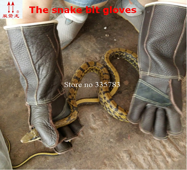 Anti snake arbeitshandschuhe Danger animal dog lizard guantes de trabajo Thickening Leather Anti acupuncture Cuts safety glove pig acupuncture model animal acupuncture model