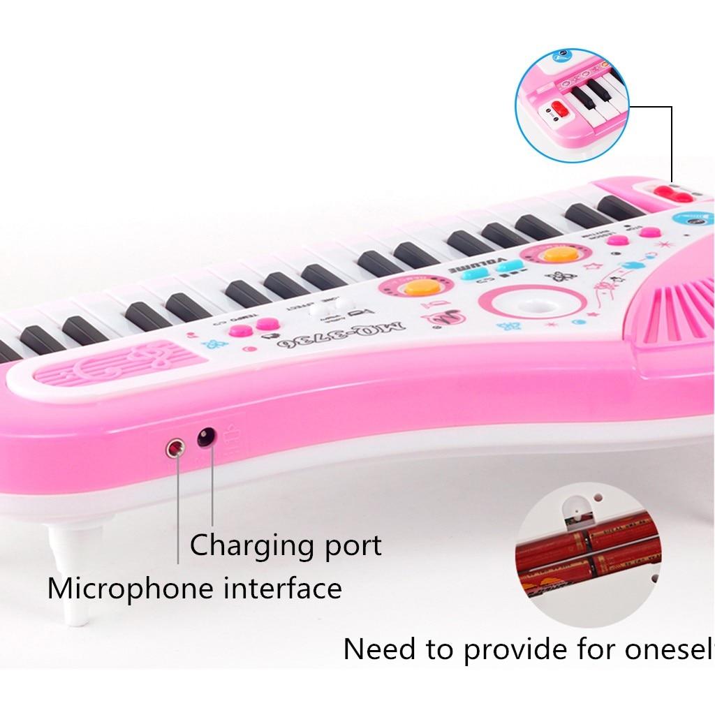 MUQGEW Piano jouet pour enfants 37 clés Instrument électronique Microphone multifonctionnel juguetes educativos enfants jouets - 5