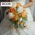 Romantic Orange Wedding Flowers Bridal Bouquets Ramos De Novia Handmade Flower Bridesmaid Bouquets
