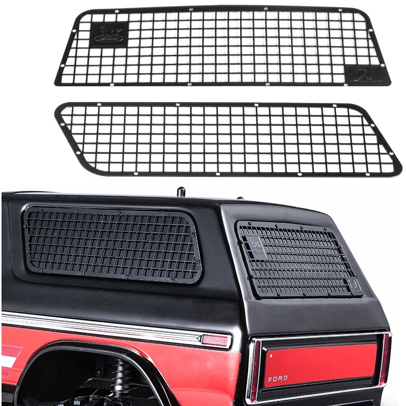 3pcs Side & Rear Alloy Metal Window Protection Net For Traxxas New Ford Bronco RC Crawler Car hpi crawler king 1973 ford bronco электро влагозащита аппаратура 2 4ghz готовый комплект