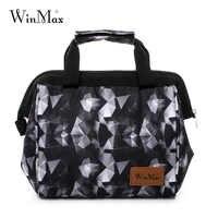 Bolsa para el almuerzo gruesa de la marca Winmax, fiambrera térmica con aislamiento, bolsas para guardar fruta fresca en el hielo para hombres, mujeres y niños