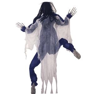 "Image 2 - Halloween 63"" Life Size Climbing Zombie Halloween Haunted House Prop Decor Escape Horror Halloween Decorations"