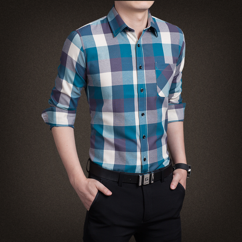 Compare Prices on Men Check Shirts- Online Shopping/Buy Low Price ...