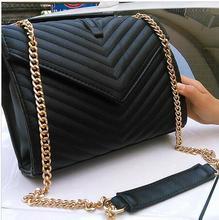 Fashion brand design 2016 new V herringbone chain bag envelope bag clamshell Shoulder Messenger bag ladies bag metal chain