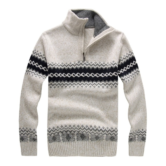 2015 new autumn and winter Men's Sweaters Men's Casual Collar Sweater Thick Section Korean Cultivating Long-sleeved Sweater