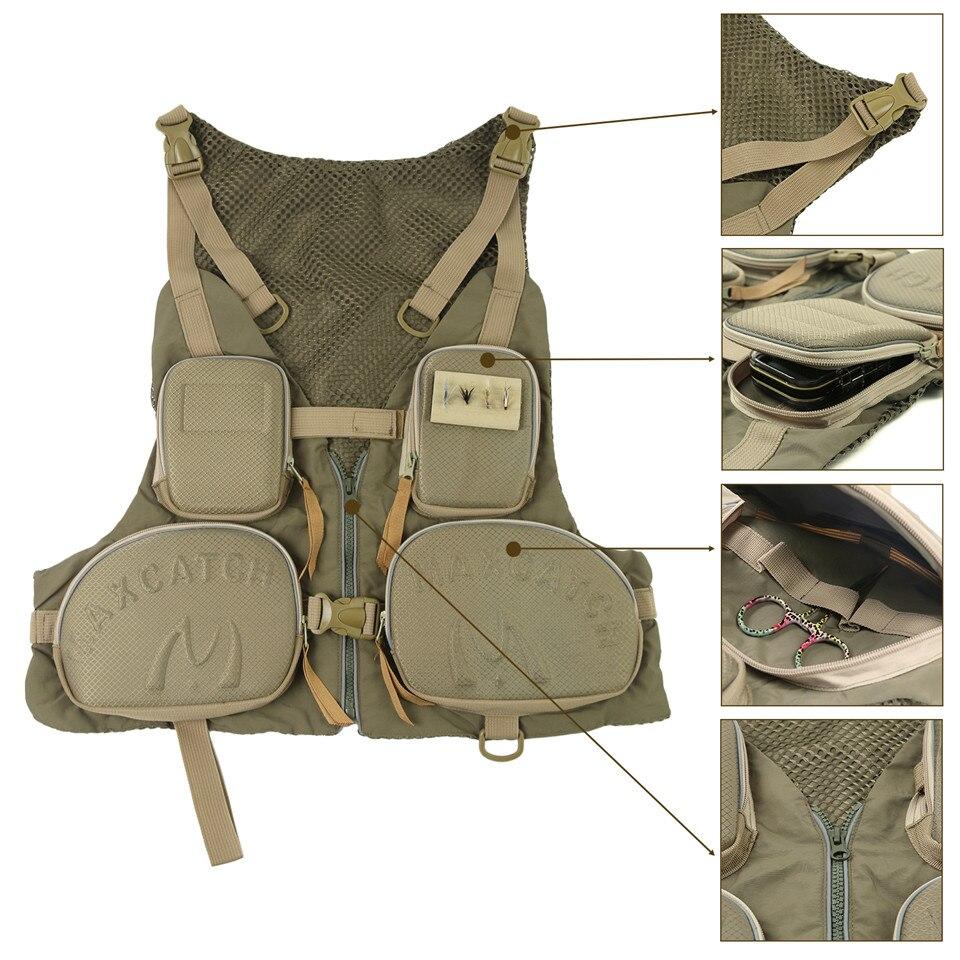 1 Stuk Handige Verstelbare Vissen Vest Groot Formaat Multi-pocket Vissen Pack Outdoor Vest Multifunctionele Sneldrogende Ultralight Mesh