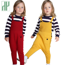 Kids pants winte autumn Children trousers Overalls Harem Pants little Boys Girls Cotton Knitted toddler harem 1 5 Years
