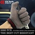 CK Tech. Перчатки из нержавеющей стали с проволочной сеткой  мясные перчатки  безопасные рабочие перчатки для мяса  1 шт.