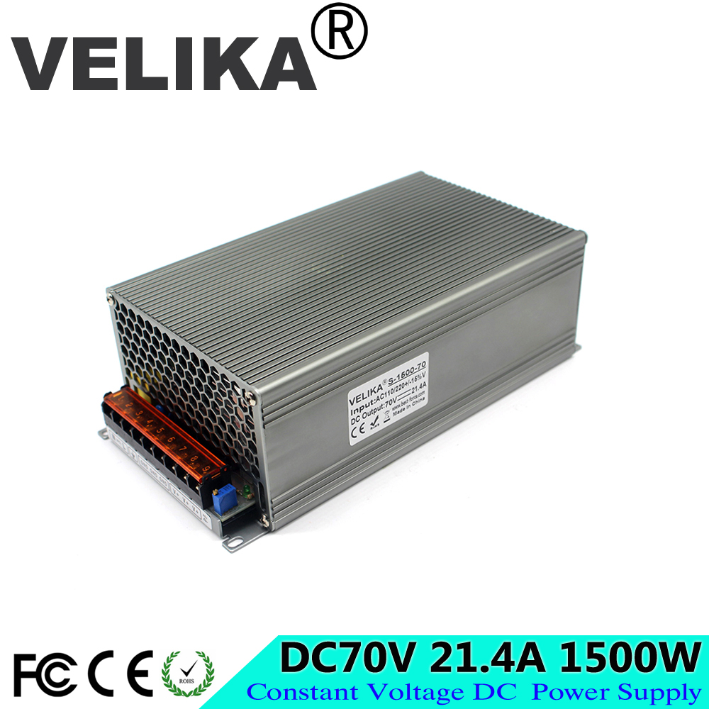 DC70 Volt 21 4A 1500W Power Source Driver Transformers 110V 220V AC to DC70V Power Supply