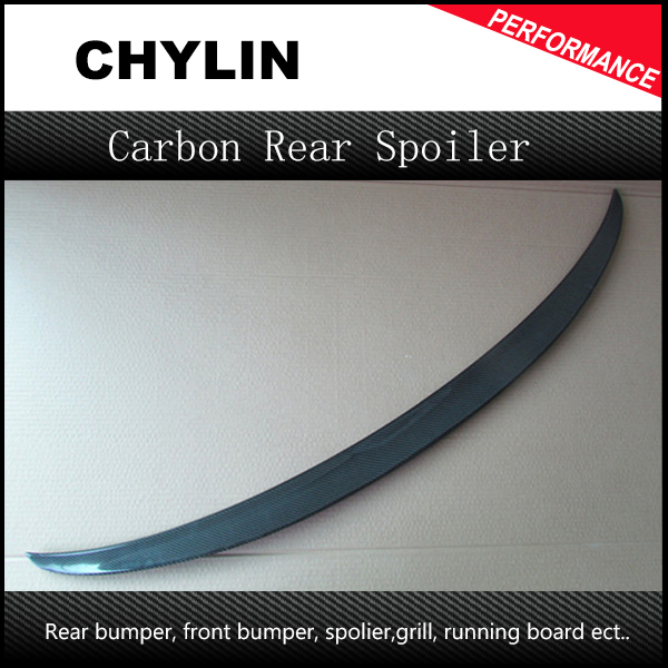 carbon fiber P styling car rear lip spoiler for BMW,auto rear trunk wing fit for bmw 3 series 4 door F80 F30 M3 2014UP