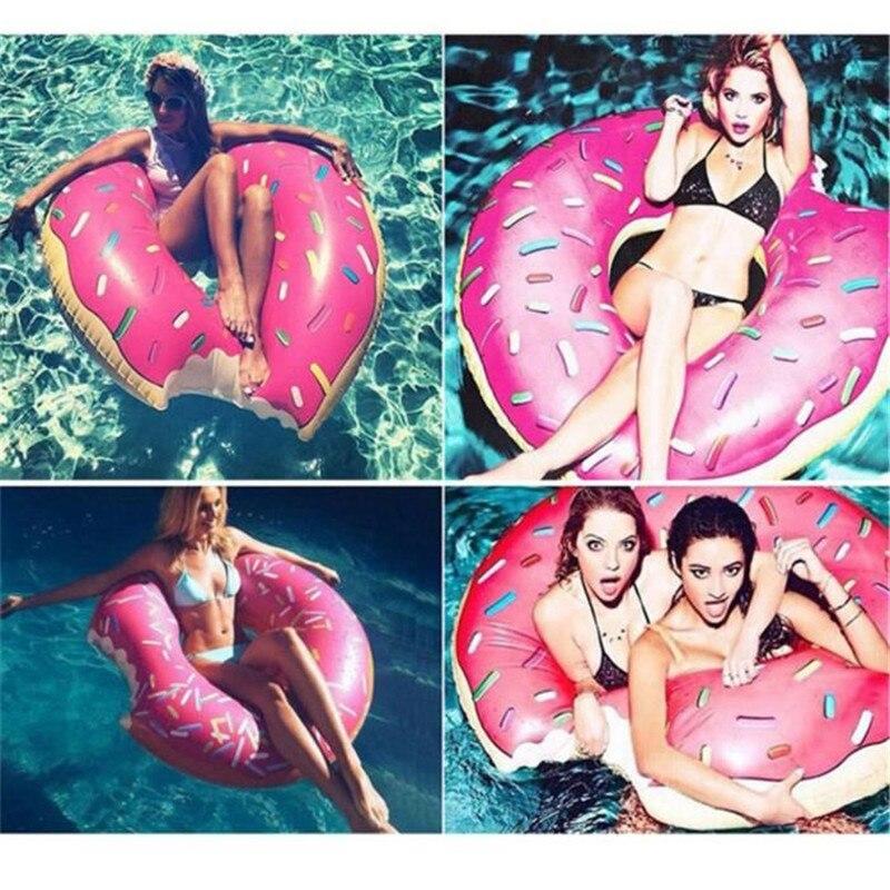 Sweet Dessert Giant Pool Floats Adult Super Large Gigantic Doughnut Pool Inflatable Life Buoy Swimming Circle Ring