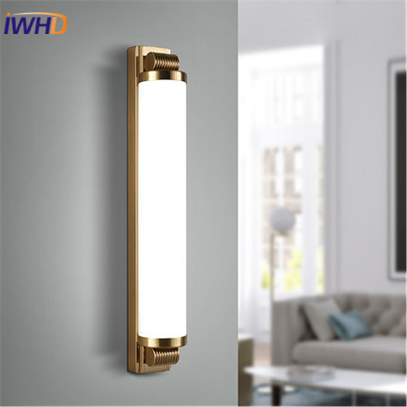 IWHD Simple Acrylic LED Wall Light Modern Class Rustic Bedroom Wall Lamp Indoor Lighting Wall Sconces Luminaire Apliques Pared pendant light restaurant lamp rustic handmade modern low voltage lighting bedroom lamp child real luminaire g2839