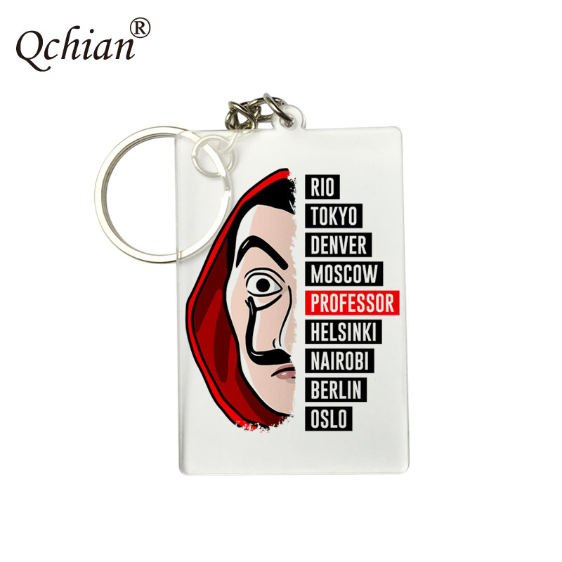 1pcs La Casa De Papel Keychain Money Heist The House of