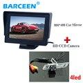 """Color de 4.3 """"pantalla lcd monitor del coche universal + nueva llegada de la cámara posterior del coche para mitsubishi l200 pajero zinger v3 v93 v5 v6 v8 V97"""