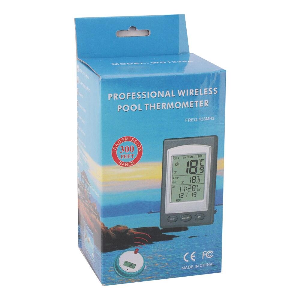 Беспроводной цифровой термометр для плавательного бассейна ЖК-дисплей водонепроницаемый плавающий термометр для бассейна с будильником времени Календарь Температура