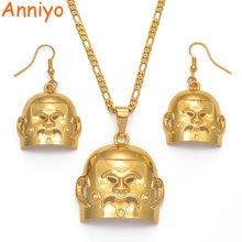 Anniyo большие серьги золотой цвет маска png ожерелья наборы