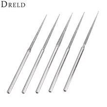 5 ピース Dremel アクセサリーミニドリルダイヤモンド研削ヘッド 3 ミリメートルシャンクバリビットセット研削ツール回転工具用三角先端