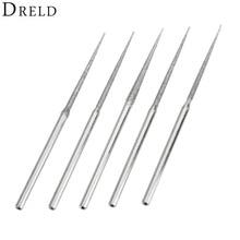 5Pcs Dremel Accesories Mini Drill Diamond Grinding Head 3mm Shank Bur Bit Set Grinding Tool For Rotary Tool Trigonometric Tip