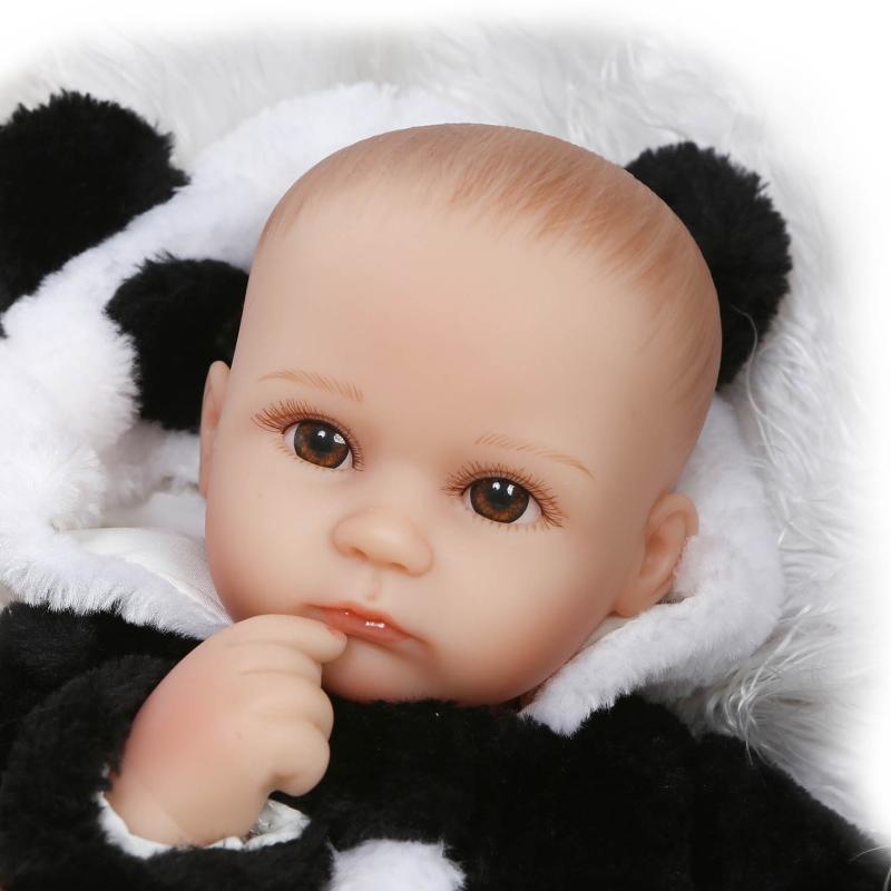 42cm Cartoon Panda Clothing Reborn Babies Dolls Bebe Gift