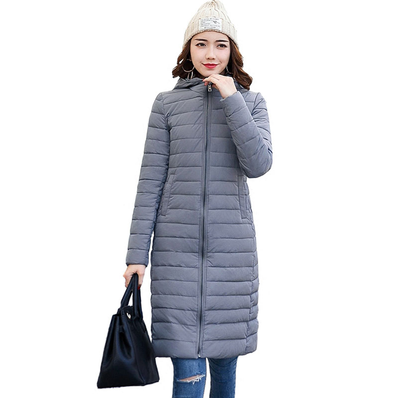 Women Clothing Solid Jacket Winter Female Stylish Long Parka Coats Warm Women's Winter Coats & Jackets Plus size 4L92
