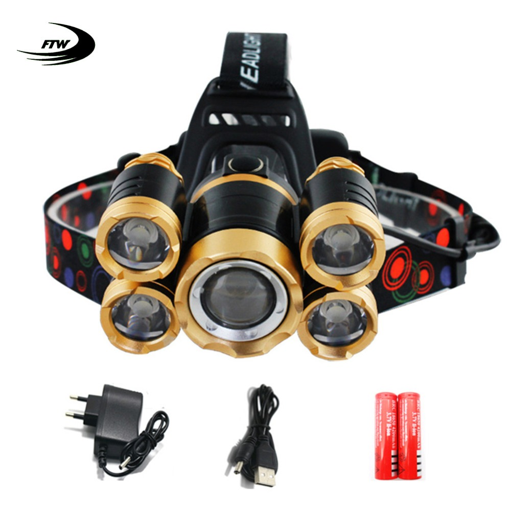 ftw glass10 FTW bicycle light 5 LED T6 bike front light zoom USB rechargeable 18650 headlight flashlight lamp wateproof strong power F2081