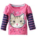 2016 Outono Inverno Infantil Roupas Bonito Roupas Infantis de Qualidade do Algodão T-shirt Dos Desenhos Animados do Kawaii Menina 2-6 Anos de Idade As Crianças roupas