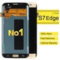 2 pcs alibaba china clone peças de telefone celular para samsung galaxy s7 edge highscreen display lcd digitador da tela de toque de ouro