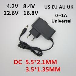 AC 100-240V DC 4.2V 8.4V 12.6V 16.8V 1A Charger Power supply Adapter 4.2 8.4 12.6 16.8 V 1000MA for 18650 Lithium Li-ion Battery