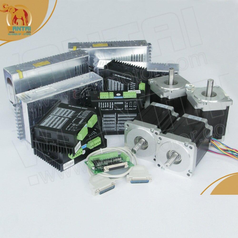 4 Axis Nema 34 Wantai Stepper Motor 1232oz-in,6A,WT86STH118-6004A & Driver DQ860MA,7.8A/80VDC CNC Mill Cut Engraving, Laser