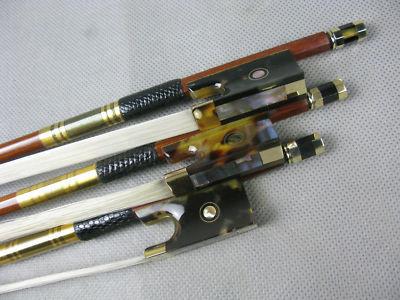 3pcs nejlepší brazilské dřevo profesionální Houslová luk Hawksbill žába kulatý brazilský dřevěný hůl