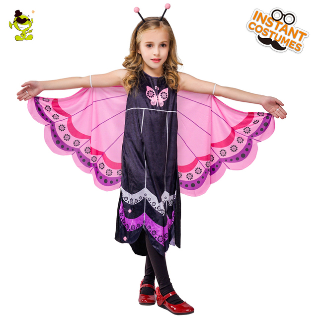 Girls Butterfly Dress Princess Costumes Flower Fairy Baby Fluffy Puff For Party Cosplay Kids