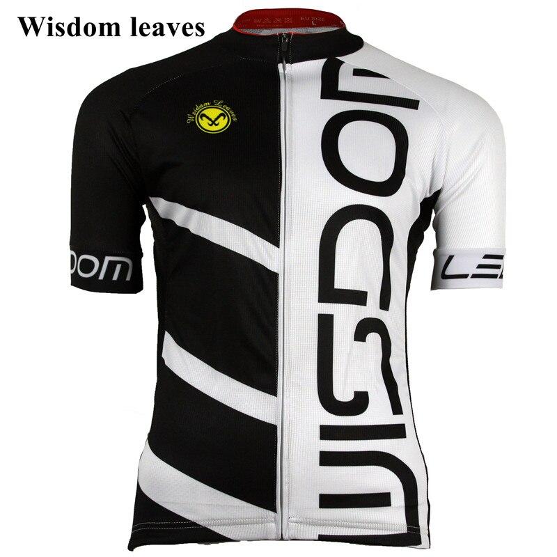Sagesse feuilles 2019 hommes Sport cyclisme jersey t-shirtroupa roupa vélo femmes maillot ciclismo equipos équipe vélo vêtements