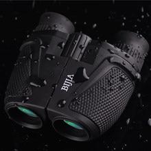 BIJIA 12×25 BAK4 Prisma Porro Prismáticos Portables Del Telescopio Grande Ocular Binocular Impermeable Profesional De Caza Deportes