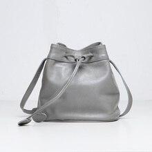Emma Yao Frauen Leder Eimer Tasche Mini kleine Tasche Mode Leder Tasche Marke einzelner Schulterbeutel