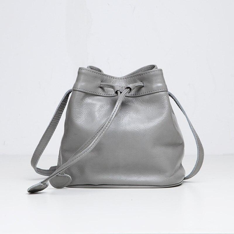ФОТО EMMA YAO women's leather bucket bag Mini small bag fashion leather bag Brand Single shoulder bag