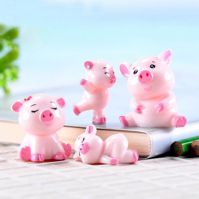 Figurines & Miniatures Pack Of 7pcs Christmas Design Hedgehog Figurine Animal Miniature Fairy Garden Micro Landscape Handmade Cake Decor