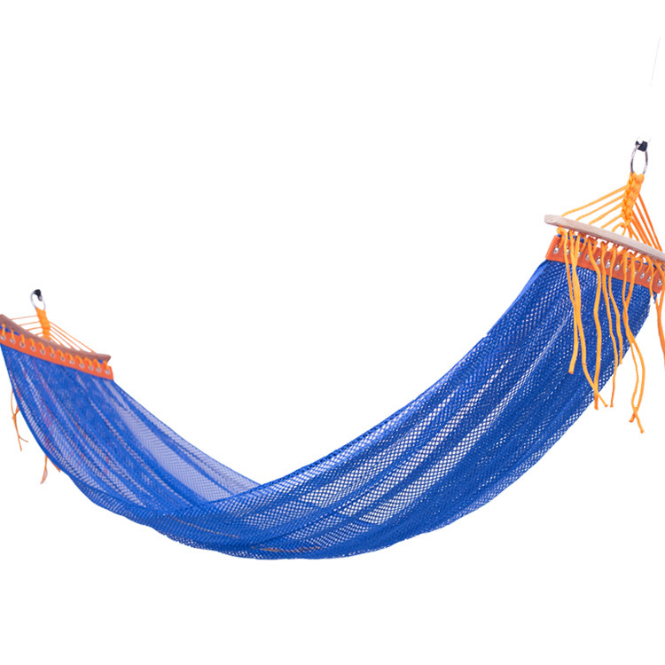 New Prevent Rollover Ice Silk Hammock Chair Outdoor Furniture Two-person Summer Mesh Swinging Chair Blue Nordic Swing 200*130cmNew Prevent Rollover Ice Silk Hammock Chair Outdoor Furniture Two-person Summer Mesh Swinging Chair Blue Nordic Swing 200*130cm