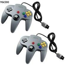 2 x Gray Controller Gamepad Joystick System FOR NINTENDO N64 Game