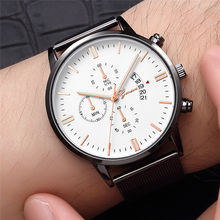 Mens Watches Top Luxury Brand Stainless Steel Quartz Watch Men Fashion Casual Waterproof Calendar Clock Male Relogio Masculino цена и фото