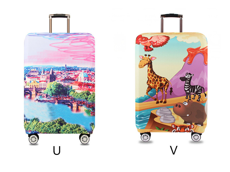 Thicker Travel Luggage Protective Cover Suitcase Case Travel Accessories Elastic Luggage Dust Cover Apply to 18''-32'' Suitcase 16