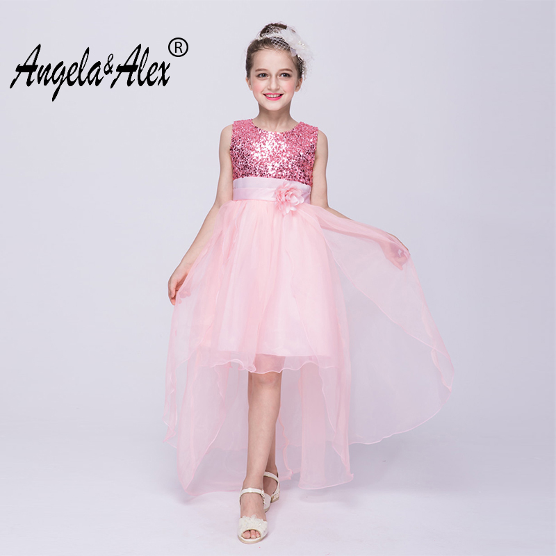 Angela&Alex Kids Girls Wedding Trailing Dress 3 8 Year 2018 Girls ...