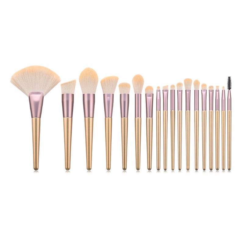 18 stücke Make-Up Pinsel Professional Lidschatten Foundation Pulver Eyeliner Wimpern Lippen-Make Up Pinsel Set Schönheit Make-Up-Tool