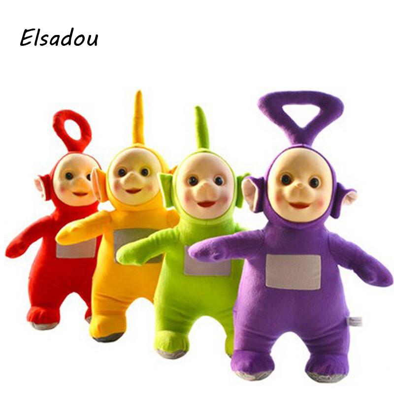 Elsadou 4pcs/set 2018 Teletubbies Laa Po Tinky Dipsy Plush Toy Doll Set 4pc/lot