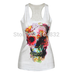 Image 5 - YEMUSEED Women Digital Print Tank Tops Sexy Girls Tanks Mermaid Camisole Top Cartoon Print Summer Fashion Sleeveless Vest