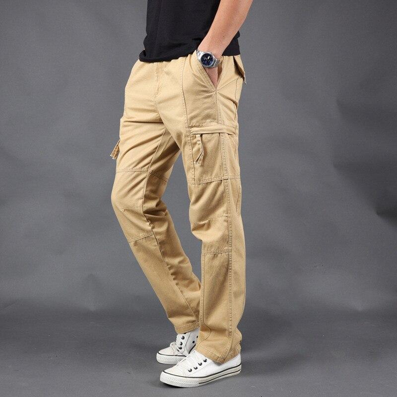 Men's Casual Pants 2019 Spring Summer Men's Casual Pants Men's Cotton Pants Men's Multi Pocket Straight Pants  Size S-5XL