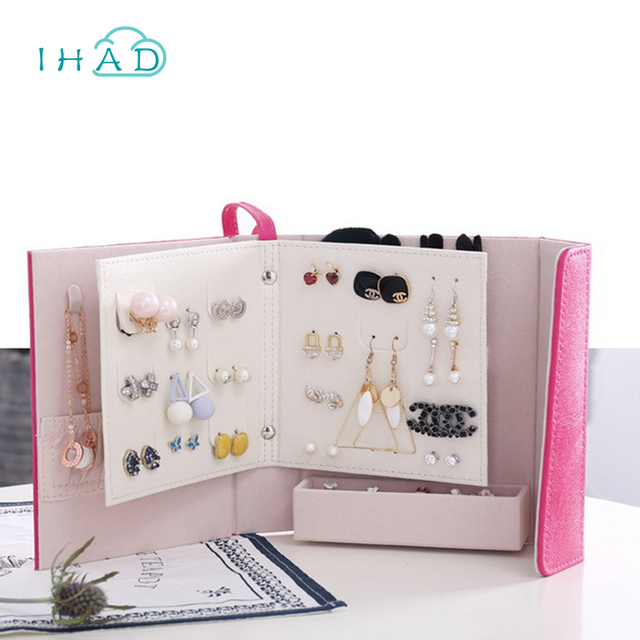 Creative Book shape Jewelry Box makeup organizer necklaceearring