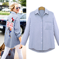 Women Summer Shirts Plus sizes Long Sleeve Shirt Womens Tops Ladies Tops and Shirts V-neck Button Sexy Loose Women Tops