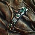2014 Nueva Joya Shourouk Declaración Verde Claro Flor de Cristal de Alta Calidad de Lujo Vestido de Partido de Las Mujeres Del Pelo Hairband Joyería H017