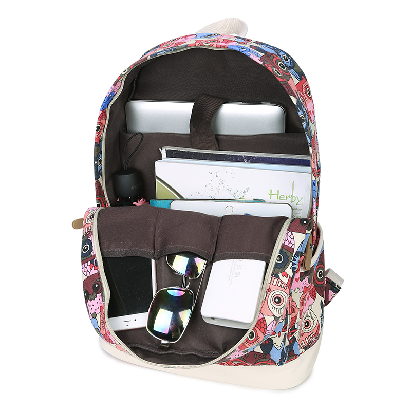 MALLRAT Backpack Women Owl Printing Backpack
