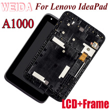 цена на WEIDA LCD Replacment 7 For lenovo Ideatab A1000 LCD Display Touch Screen Assembly With Frame IdeaPad-a1000